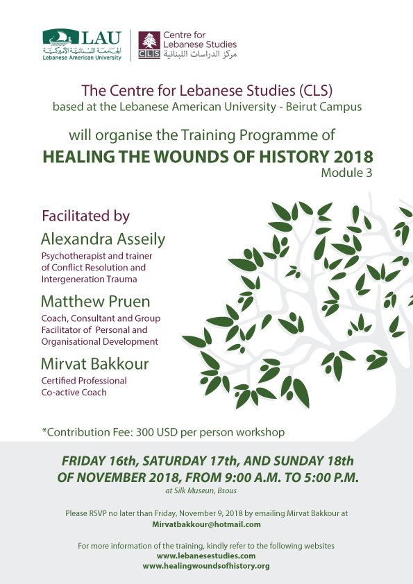 Healing the Wounds of History Module 3: 2018 – Centre for